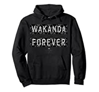 Black Panther Wakanda Forever Pattern Shirts Hoodie Black