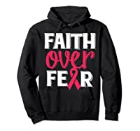 Faith Over R Breast Cancer Awareness Gift Shirts Hoodie Black