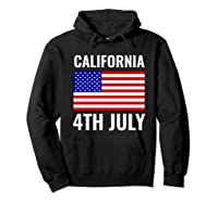 California Independence Day 4th July American Us Flag Gift Shirts Hoodie Black