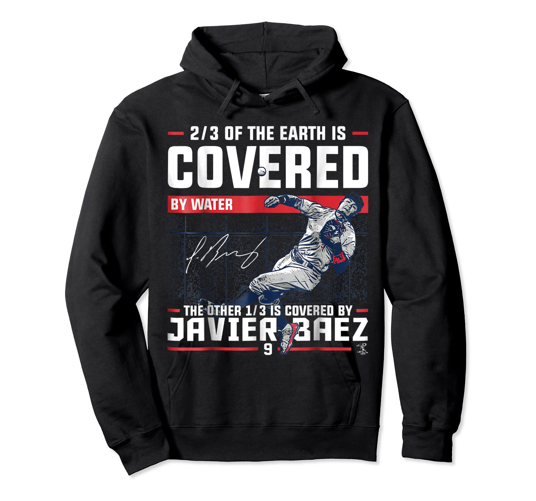 Javier Baez Covered By T-Shirt - Apparel-Hoodie-Black