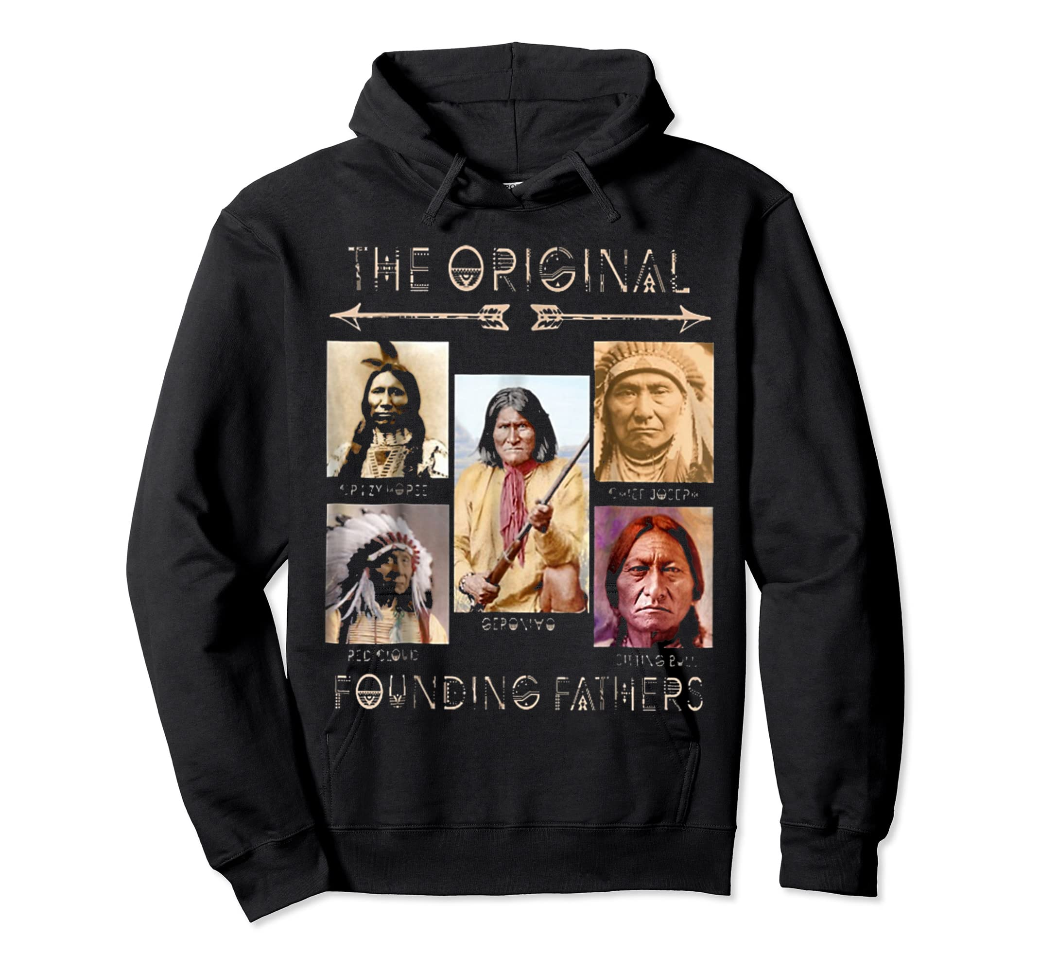 the original founding fathers native classic shirt-Hoodie-Black