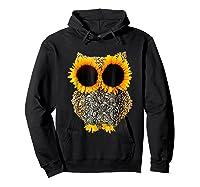 Owl Sunflower Shirt Funny Owl Lovers Shirt Hoodie Black