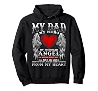 My Dad, My Hero, My Guardian Angel Father's Day Shirts Hoodie Black