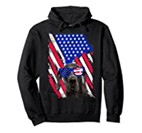 Vintage Great Dane Dog American Usa Flag Distressed Shirts Hoodie Black
