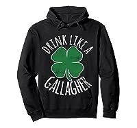 Gllgher St Patrick's Day Beer Irish Shirts Hoodie Black