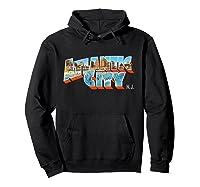 Atlantic City New Nj Vintage Retro Souvenir T Shirt Hoodie Black