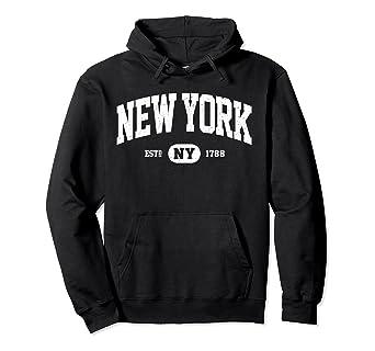 01c175f7428a Amazon.com  NY New York Sweatshirt Retro Vintage New York Hoodie ...