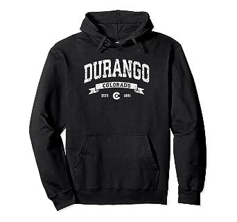 ae7795137 Amazon.com: Durango Hoodie, Vintage Durango Colorado Sweatshirt ...