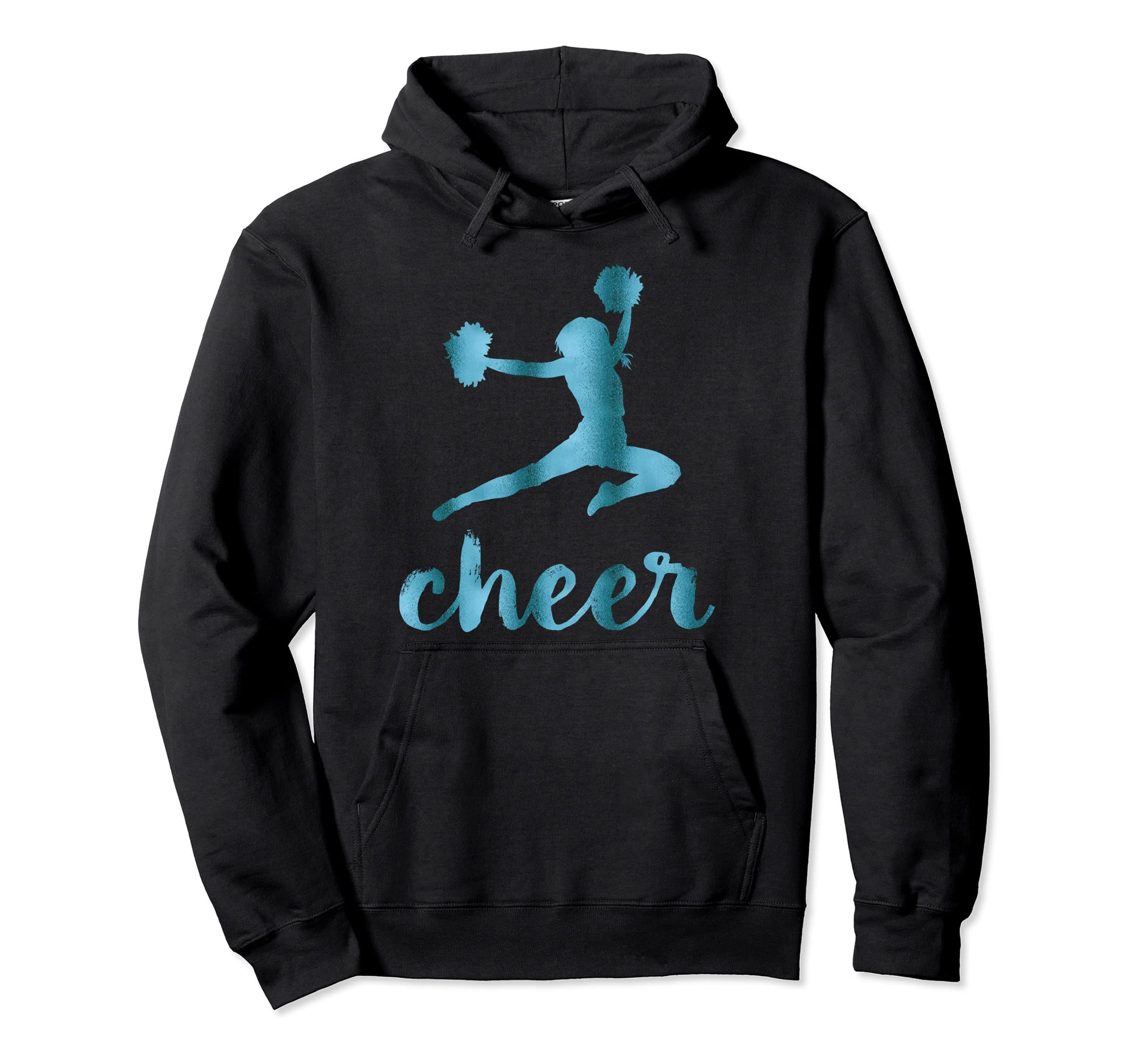 Cheerleading Hoodies With Cheer Graphics Teal