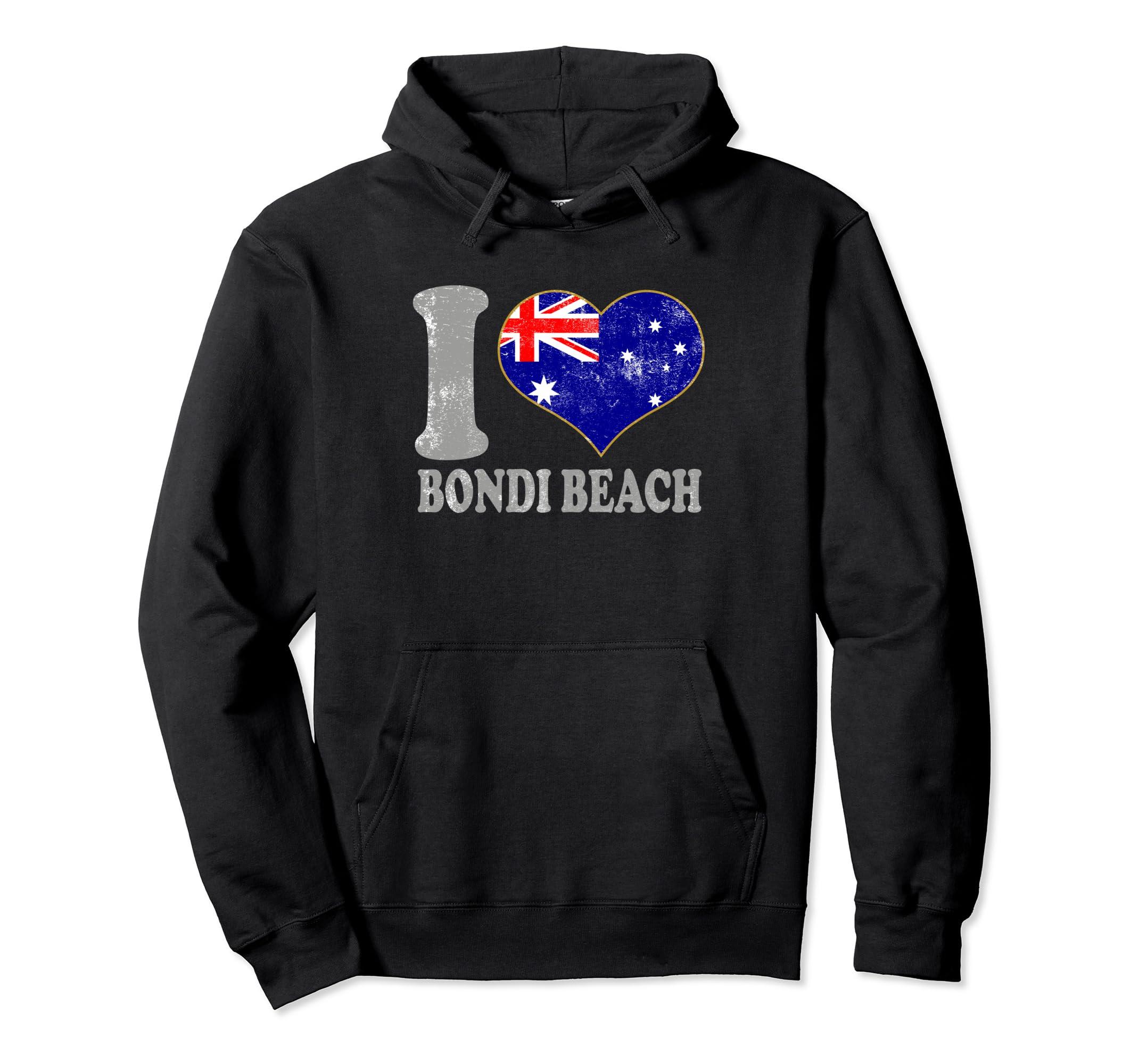 eb639a19f0 Amazon.com: Bondi Beach Australia Hooded Sweatshirt Clothing Pride: Clothing