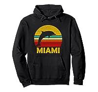 Retro Miami Dolphin Vintage Cute Pullover Shirts Hoodie Black