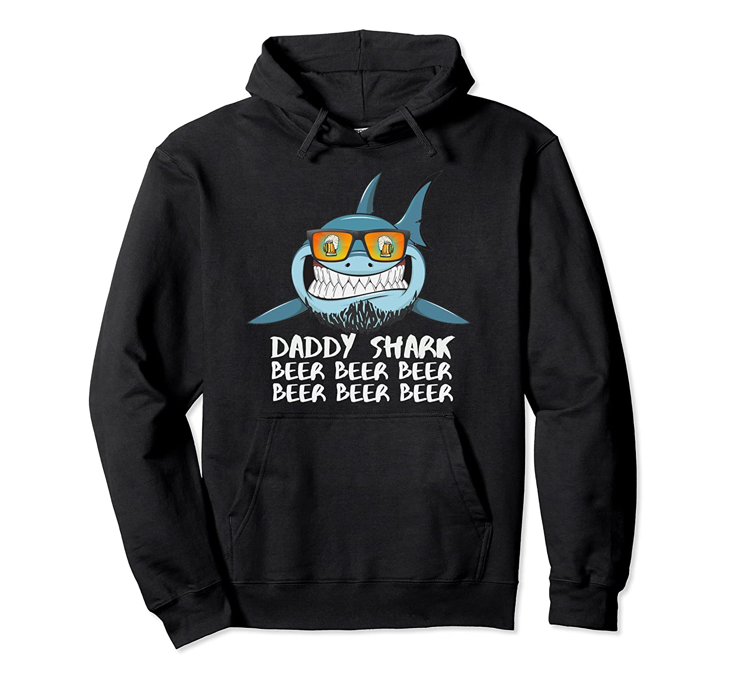 Daddy Shark Shirt Fathers Day Gift Idea For Dad Husband Beer Pullover