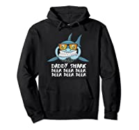 Daddy Shark Shirt Fathers Day Gift Idea For Dad Husband Beer Pullover  Hoodie Black