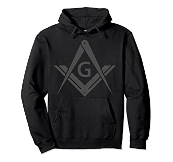2a17dadd93df Amazon.com  Masonic Hoodie Square   Compass Stealth Modern Freemason ...