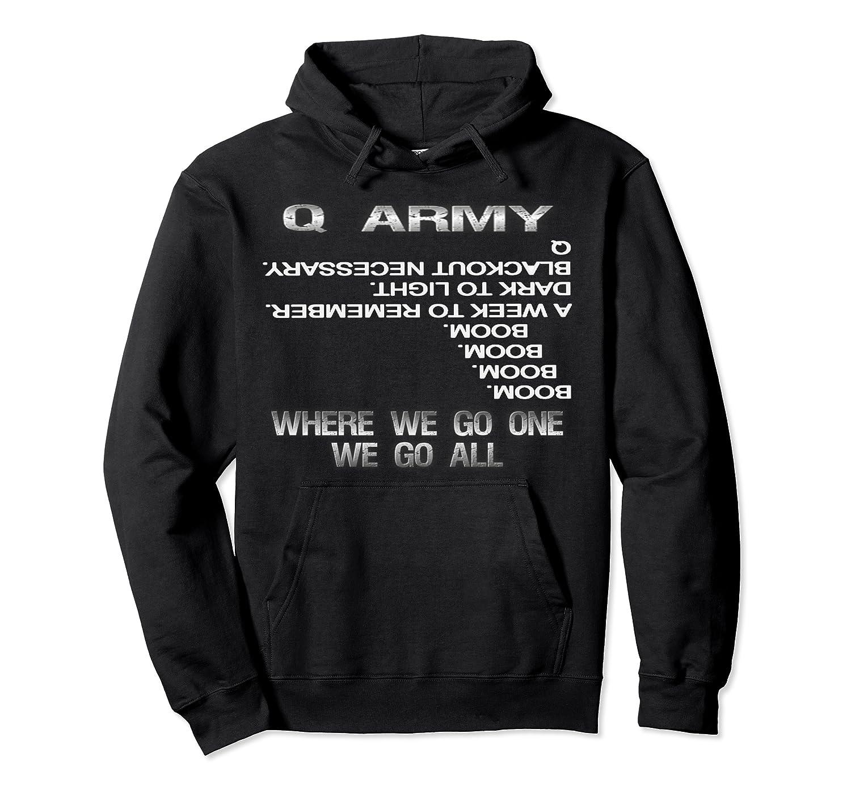 fe3b793ed043 Amazon.com: Q Gun, Qanon Gun/ Patriots Fight Hoodie Sweatshirt: Clothing