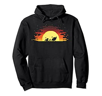 bcaf81d7d Amazon.com: Disney Lion King Gradient Sunset Trio Hoodie: Clothing