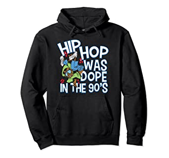 Amazon com: Hip Hop Was Dope In The 90's Rap Hoodie: Clothing