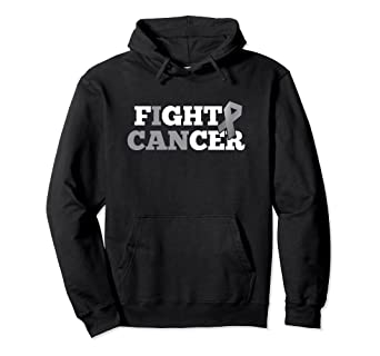 dbf2c4109fb Image Unavailable. Image not available for. Color: Fight Cancer Brain  Glioblastoma Grey Ribbon Hoodie