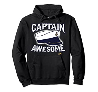 Amazon com: Captain Awesome Hoodie Anchor on Captains Hat: Clothing