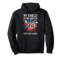 Marvel Captain America Shield Heart Valentine Shirts Hoodie Black