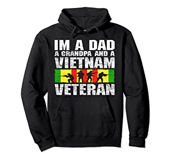 63f59e86b Image Unavailable. Image not available for. Color: Father Day Hoodie I'm A Dad  Grandpa And Vietnam Veteran