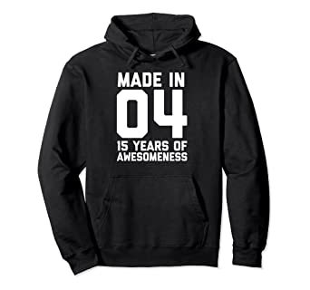 Image Unavailable Not Available For Color 15th Birthday Hoodie Girls 15 Year Old Daughter Niece Gifts