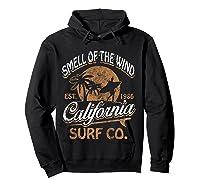 Retro Surf Shirt California Surfer Gift Cali Hoodie Black