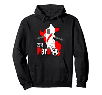 22613c11305 Image Unavailable. Image not available for. Color: Peru Soccer Hoodie - Peruvian  Futbol Sweatshirt