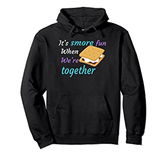 b42a4c39 Image Unavailable. Image not available for. Color: S'more Fun Camping  Sayings hoodie for Men Women Kid Funny