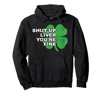 ea814faa Amazon.com: Funny St Patricks Day Hoodie Irish Sweatshirt for Men Women:  Clothing