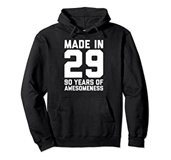 Image Unavailable Not Available For Color 90th Birthday Hoodie Women Age 90 Year Old Grandma Mom Gifts