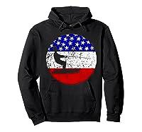 American Flag Waterskiing Vintage Retro Waterskiier Shirts Hoodie Black