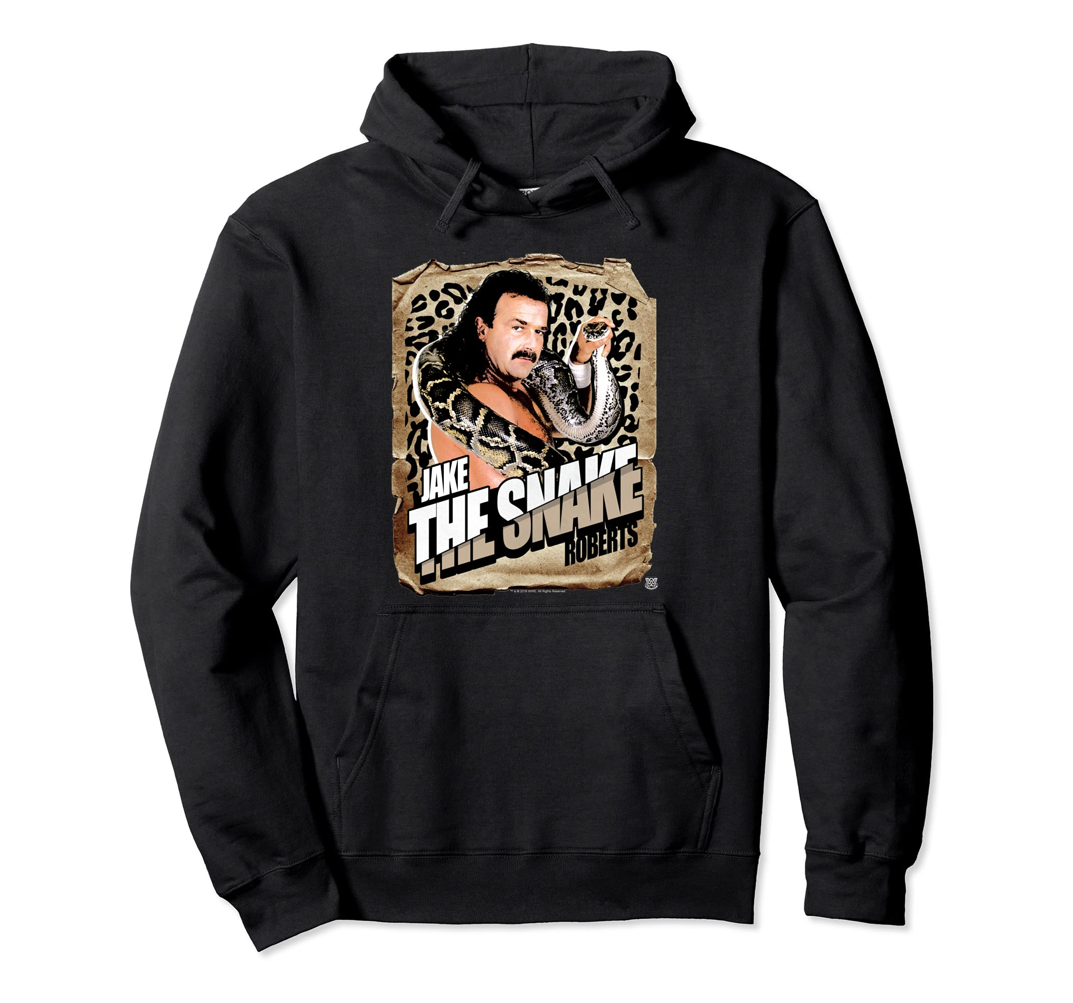 WWE Jake the Snake Roberts Photo with Snake Print Hoodie-ln