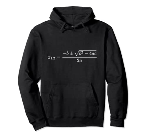 Quadratic Formula Abc Math Equation Geek Pullover Hoodie