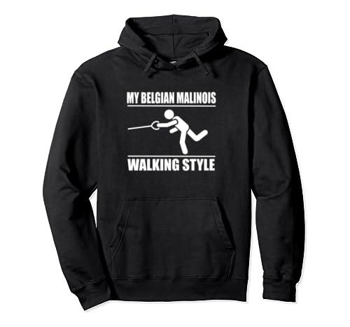 Amusing Belgian Malinois Walking Style Pullover Hoodie