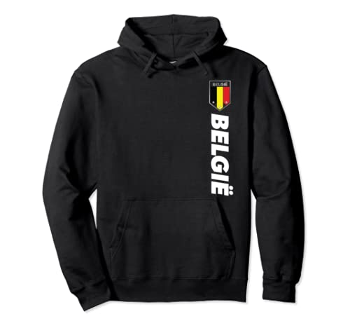 Proud Belgian   Belgium Apparel   Belgium Soccer Style Pullover Hoodie