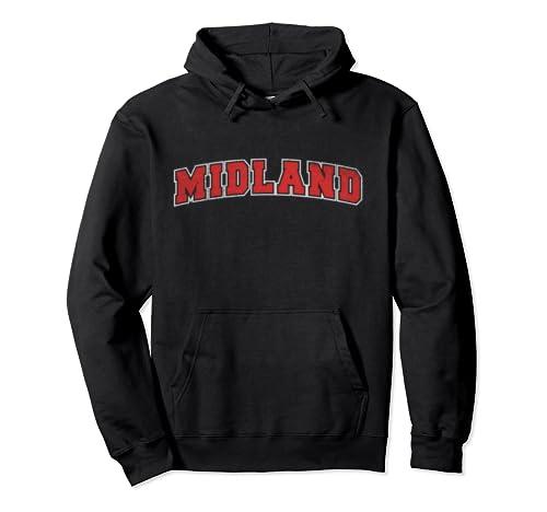 Retro Midland North Carolina Varsity College Style Pullover Hoodie