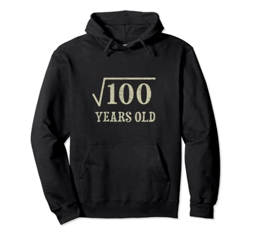 10 Years Old  10th Birthday Gift Idea Square Root Of 100 Pullover Hoodie