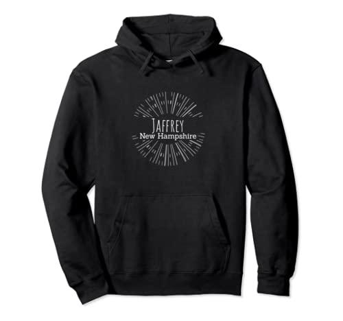 Jaffrey, Nh Sunburst Line Art Product Pullover Hoodie