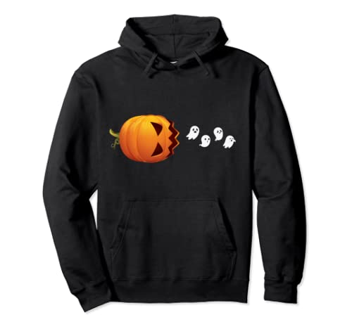 Pumpkin Ghosts Funny Halloween For Kids Boys Girls Gifts Pullover Hoodie