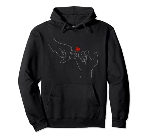 Finger Heart Missing Love Valentines Day Gift Pullover Hoodie