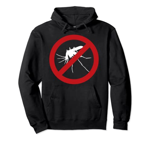 Mosquito Control No Pests Sign Unique Gag Halloween Gift Pullover Hoodie