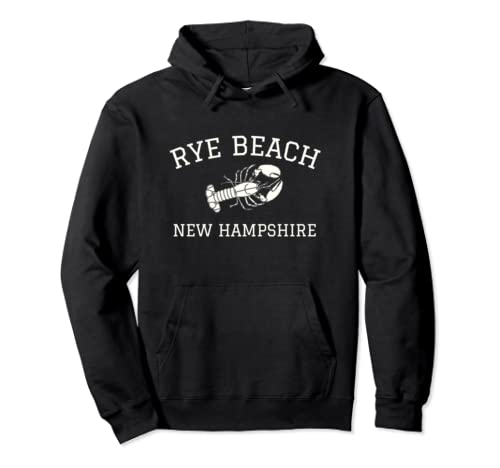 Rye Beach, New Hampshire Lobster Graphic Pullover Hoodie