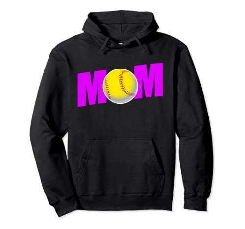 Funny Softball Mom Gift For Sport Mothers And Moms Pullover Hoodie