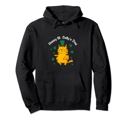 Cute Happy St. Catty's Day St. Patrick's Day 2020 Pullover Hoodie