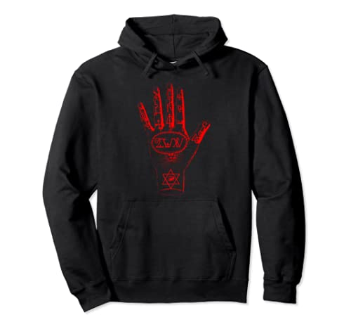 Wiccan Symbol Tarot Card Horror Occult Pullover Hoodie
