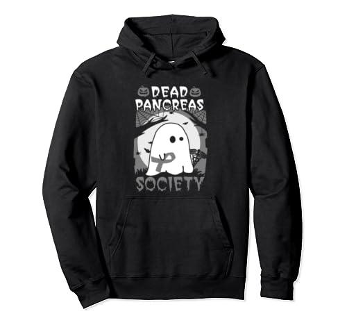 Dead Pancreas Society Pancreatic Cancer Awareness Halloween Pullover Hoodie