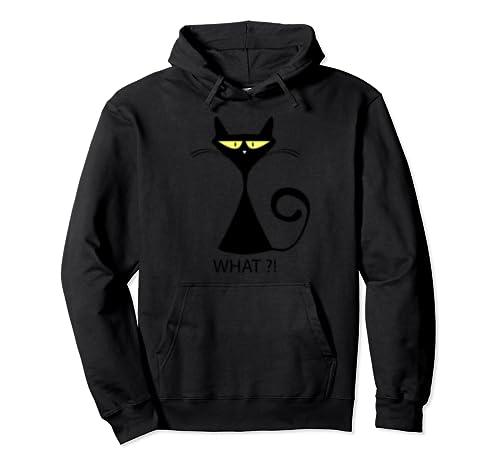 Cat What ?! Black Sweatshirt Good Pullover Hoodie
