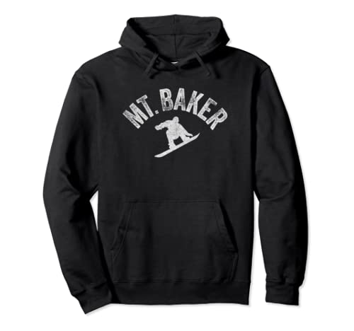 Mount Baker Snowboard Vintage Snowboarder Retro Style Pullover Hoodie