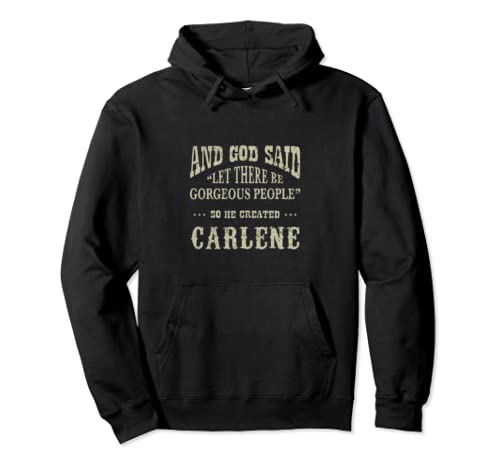 Personalized Birthday Gift Idea For Person Named Carlene Pullover Hoodie